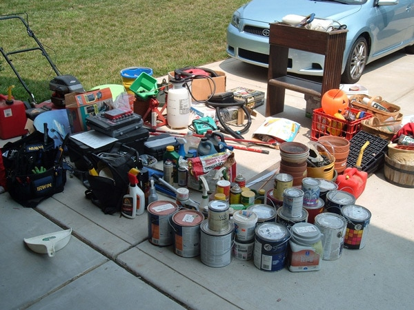 take everything out of garage first step in organizing