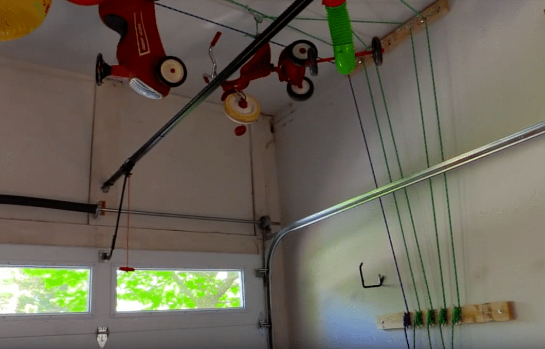 Garage Pulley System from Ceiling - The 4 Point Pulley Lift System