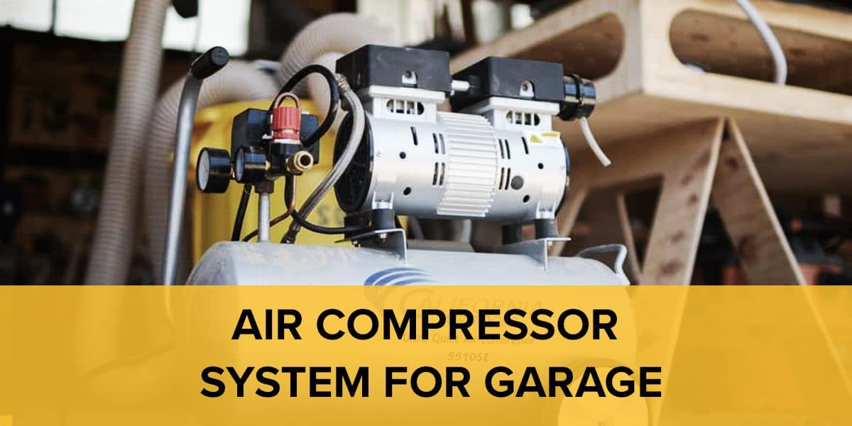 Air Compressor System For Garage