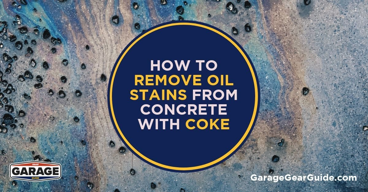 How to Remove Oil Stains From Concrete With Coke